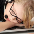 Stock Photo: Customer service operator