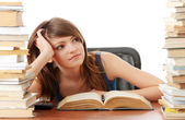 Teen girl learning — Stock Photo