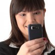 Young businesswoman using cell phone — Stock Photo #1620780