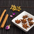 Royalty-Free Stock Photo: Star anise cinnamon sticks and cardamom