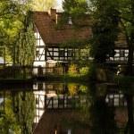 casa con entramado de madera en Alemania — Foto de Stock