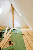 Attic conversion — Stock Photo