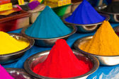 Indian coloured powders — Stock Photo