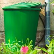 Stock Photo: Rain barrel