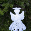 Christmas, tree and white angel — Stock Photo
