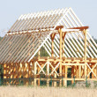 Ecological wooden house - Foto de Stock