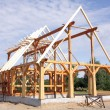 Stock Photo: Ecological wooden house