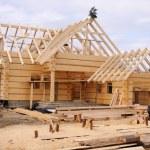 ecologische houten huis — Stockfoto