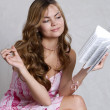 Royalty-Free Stock Photo: The girl with the book