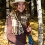 Ritratto della ragazza in un cappello — Foto Stock