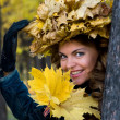 Lady Autumn — Stock Photo