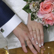 Hands of the groom and the bride — Stock Photo #1781982
