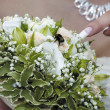 Stock Photo: Bumble-bee on bouquet of bride