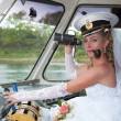 Stock Photo: Bride of captain
