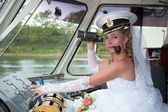 Bride of the captain — Stock Photo