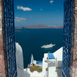 Welcome on Santorini - Stockfoto
