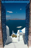 Welcome on Santorini — Stock Photo
