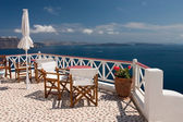 Santorini view from balcony — Foto Stock