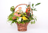 Basket of flowers — Foto Stock
