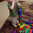 Stock Photo: Boy with blocks