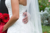 Wedding gown — Stock Photo