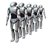 Robot army — Stock Photo