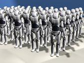 Robot army — Stock Photo
