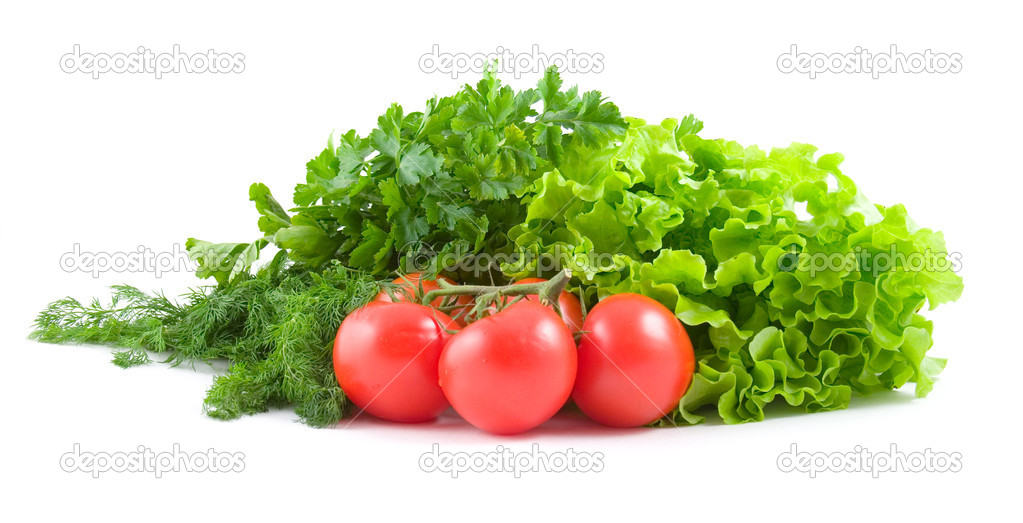 Fresh vegetables isolated on a white background  Stock Photo #1626058