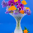 Stock Photo: Vase with bouquet of flowers