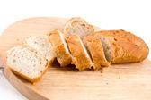 Plátky bochník chleba — Stock fotografie