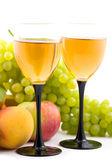 Vinho e frutas — Fotografia Stock
