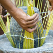 Stock Photo: Process basketry
