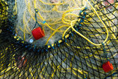Fishing net macro — Stock Photo