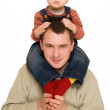 Father holding his son — Stock Photo #1790163