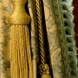 Classical curtain with a tassel — Stock Photo