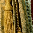 Classical curtain with a tassel — 图库照片