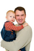 Father holding son — Stock Photo