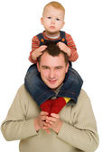 Father holding his son — Stock Photo