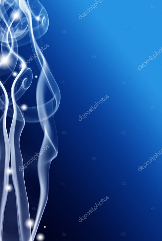 Colored smoke textura on blue — Stock Photo #1790592