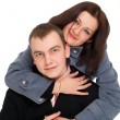 Woman hugging a man — Stock Photo #2042877