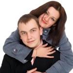 Woman hugging a man — Stock Photo