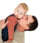 Man kiss his son — Stock Photo