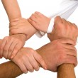 Hands holding each other — Stock Photo