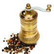 Grinder with scattered grains — Stock Photo #2044813
