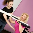 girls in the fitness center — Stock Photo