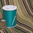 Sewing Thread and Thimble — Stock Photo