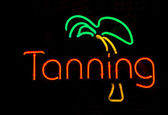 Neon Tanning Sign — Stock Photo