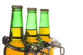 Beer, Keys and Handcuffs - Drunk Driving Concept — Stock Photo
