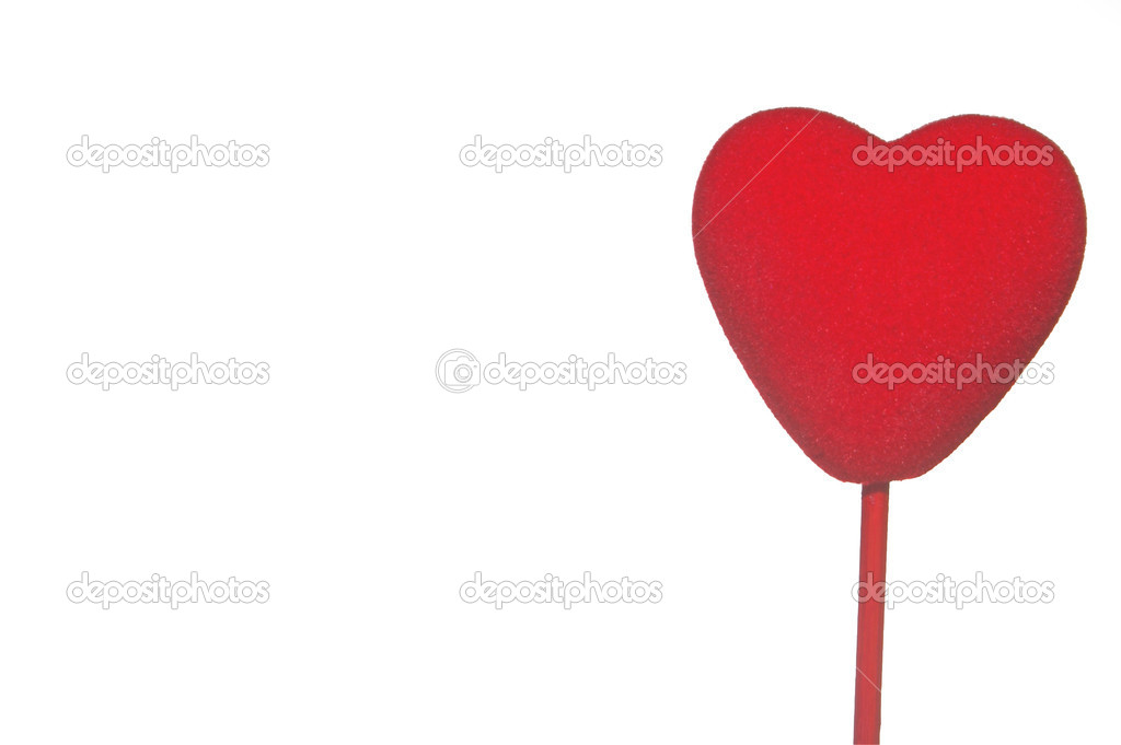 A close-up image of a red heart.  Stock Photo #1620186