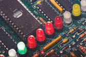 A set of LED's on a circuit board. — Stock Photo